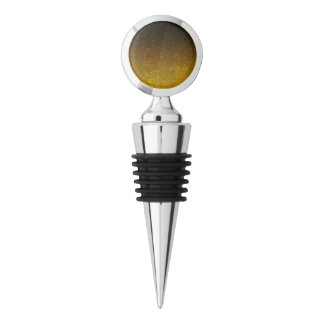 Falln Yellow & Black Glitter Gradient Wine Stopper