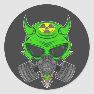Fallout Hellion Classic Round Sticker