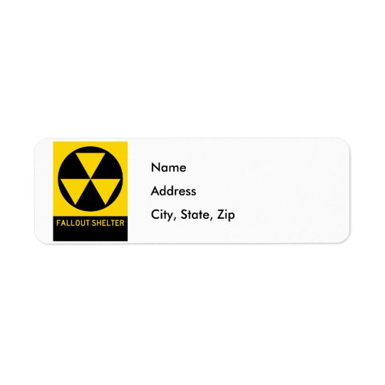 Fallout Shelter Highway Sign Return Address Label