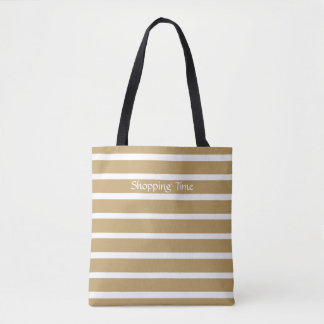 Fallow Neutral Stripes Tote Bag