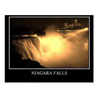 Falls at Night Postcard