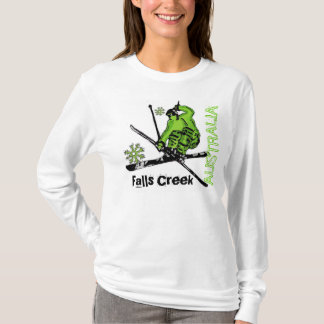 Falls Creek Australia ladies green ski hoodie