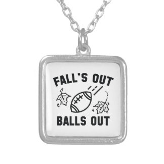Fall's Out Balls Out Silver Plated Necklace