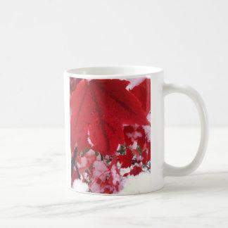 Fall's snow basic white mug