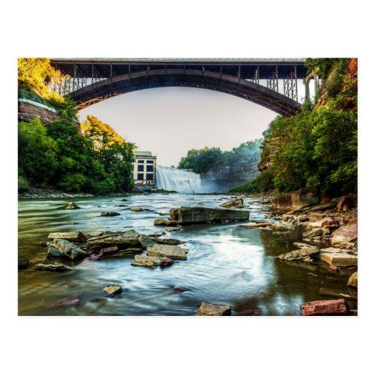 Falls Under the Bridge Postcard