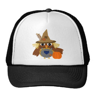 Fally the Adorable Scarecrow Owl Trucker Hat