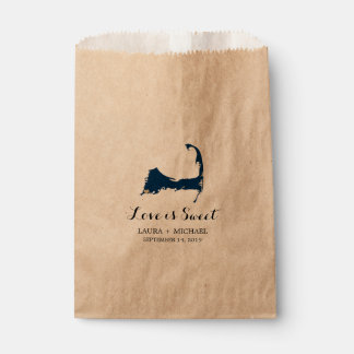 Falmouth Cape Cod Map with Heart | Favors Favour Bag