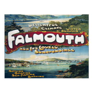 falmouth Vacation vintage Image retro travel Postcard