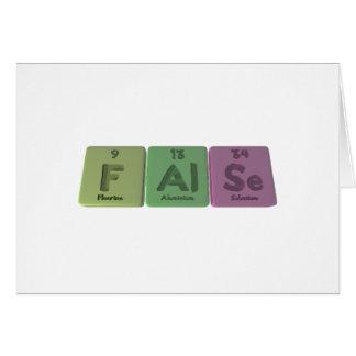 False-F-Al-Se-Fluorine-Aluminium-Selenium png Greeting Cards