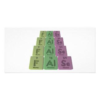 False-F-Al-Se-Fluorine-Aluminium-Selenium.png Personalized Photo Card