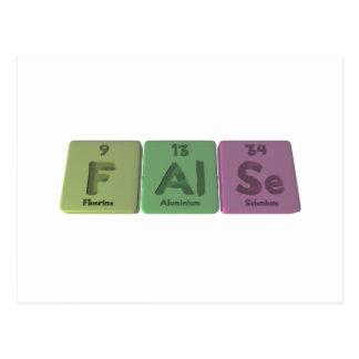 False-F-Al-Se-Fluorine-Aluminium-Selenium.png Post Card
