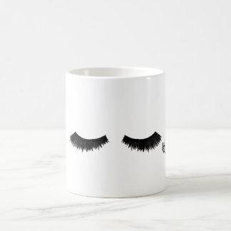 False Lashes 11 oz Coffee Mug by Lili Rosie
