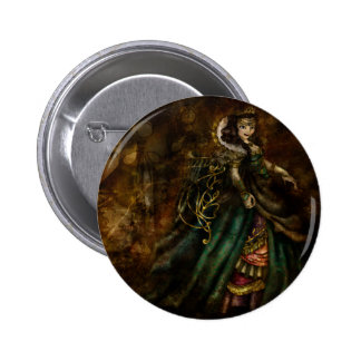 False Queen 6 Cm Round Badge