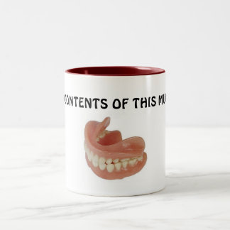 FALSE TEETH KEEPER MUG