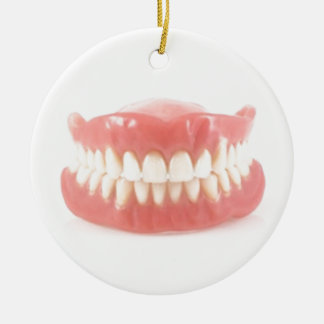 """FALSE TEETH"" OVER THE HILL ORNAMENT AND GIFT"