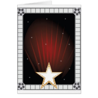 Fame Background Greeting Card
