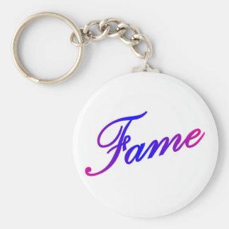 Fame Basic Round Button Key Ring