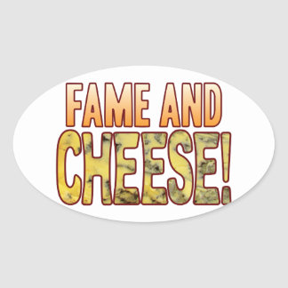Fame Blue Cheese Oval Sticker