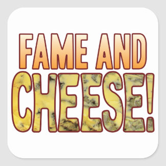 Fame Blue Cheese Square Sticker