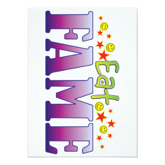 Fame Eat 14 Cm X 19 Cm Invitation Card