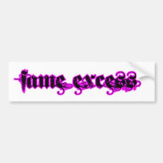 Fame Excess Car Bumper Sticker