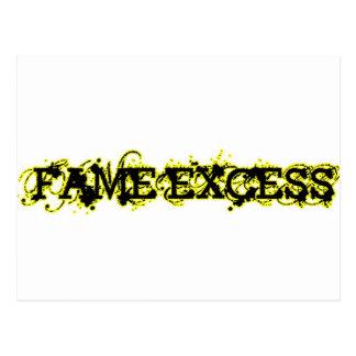 Fame Excess Postcard