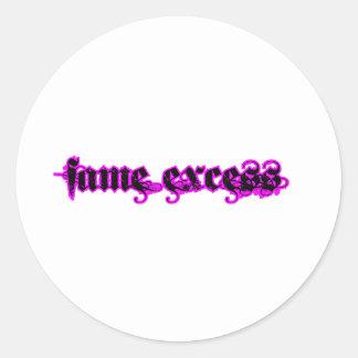 Fame Excess Round Sticker