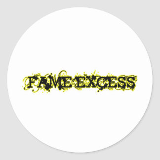 Fame Excess Round Stickers