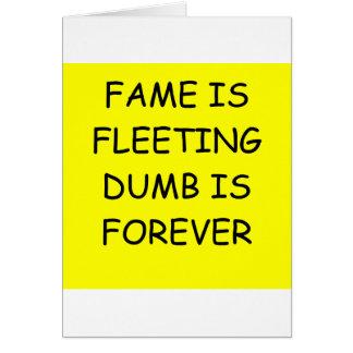 FAME GREETING CARD