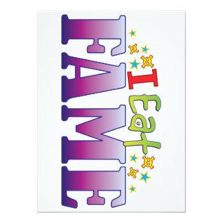 Fame I Eat 14 Cm X 19 Cm Invitation Card
