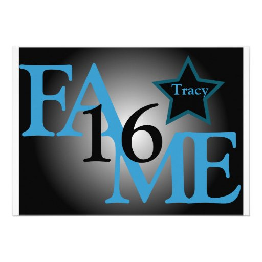 FAME Sweet Sixteen Star -Customize Invitation
