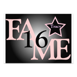 FAME Sweet Sixteen Star -Customize Announcement