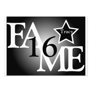 FAME Sweet Sixteen Star -Customize Custom Invites