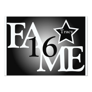 FAME Sweet Sixteen Star -Customize 13 Cm X 18 Cm Invitation Card
