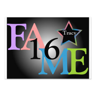 FAME Sweet Sixteen Star -Customize Invite