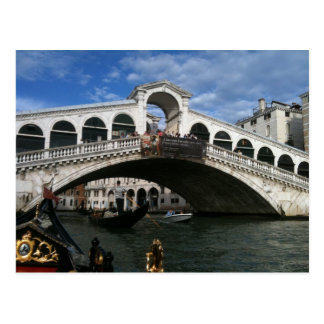 Famed Rialto Bridge of Venice Postcard