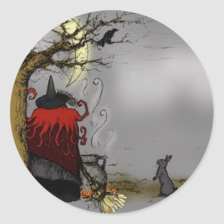 FAMILIAR HALLOWEEN CLASSIC ROUND STICKER