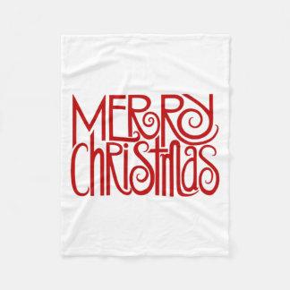 Familiar Wishes Christmas Fleece Blanket