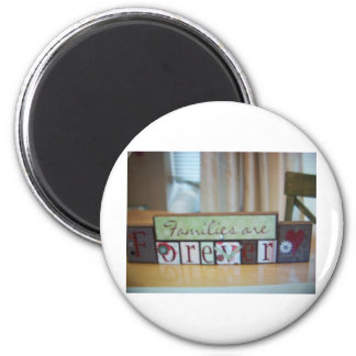 families r forever blocks 6 cm round magnet