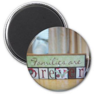 families r forever blocks refrigerator magnet