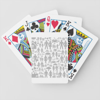 Family a background bicycle playing cards