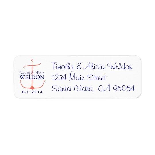 Family Anchor Return Address Return Address Label