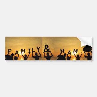 Family and Ham bumper sticker