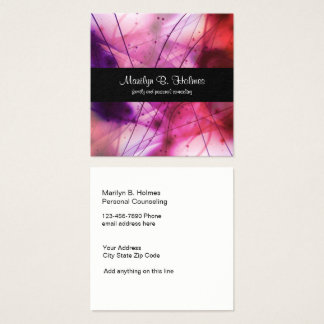 Family And Personal Counselor Square Business Card