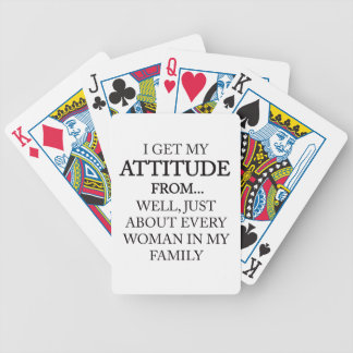 Family Attitude Bicycle Playing Cards