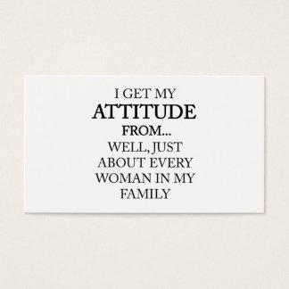 Family Attitude Business Card