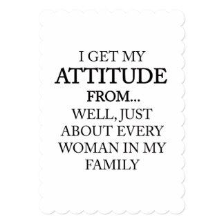 Family Attitude Card