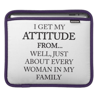 Family Attitude iPad Sleeve