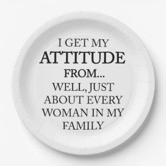 Family Attitude Paper Plate