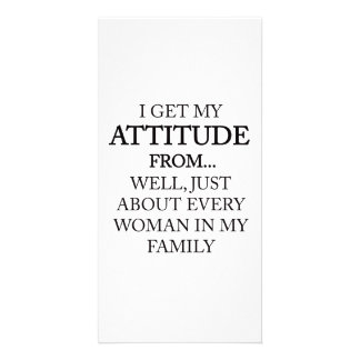 Family Attitude Photo Card Template